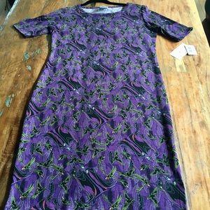 LuLaRoe Dresses - XL Disney Sleeping Beauty Maleficent Julia Dress